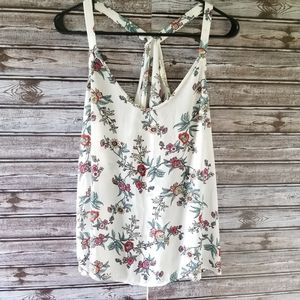 Pink Republic Floral Print Tank Top Size XL